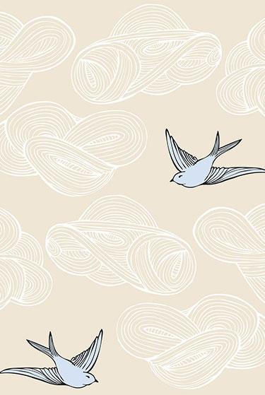 Julia Rothman Daydream (cream) Tiles   Hygge + West