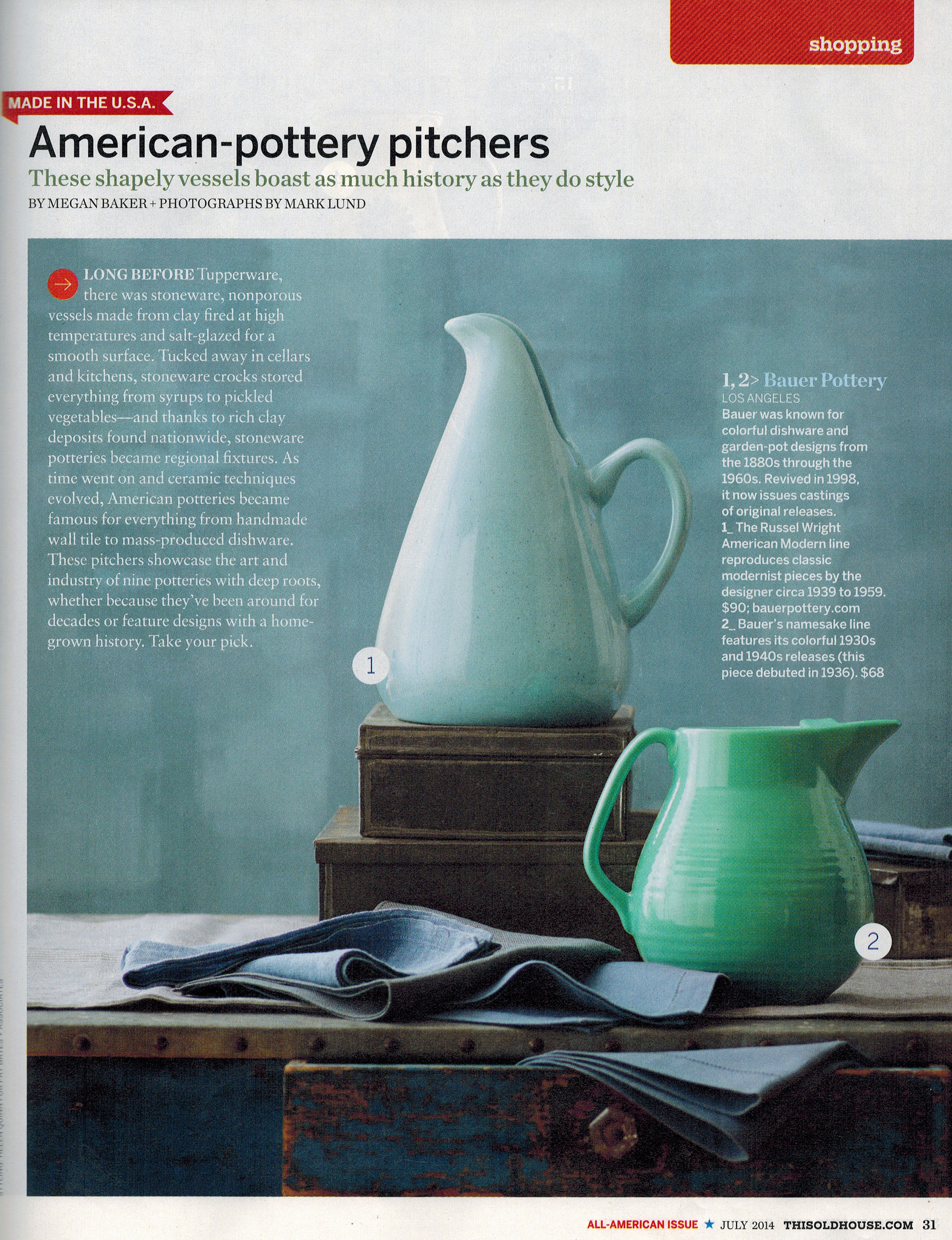 Vintage This Old House magazine featuring Bauer Pottery   Girlfriend is Better