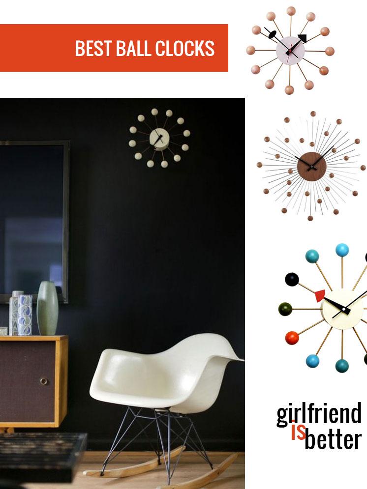 Mid-century ball clocks | Girlfriend is Better