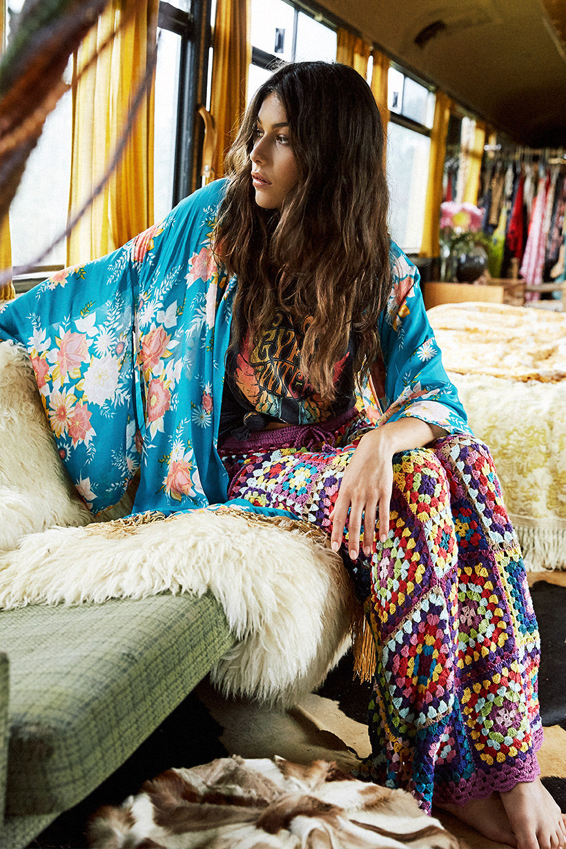 Granny squares crochet maxi skirt | Girlfriend is Better