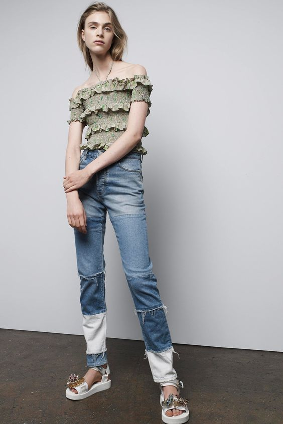Denim patches   Rebecca Taylor Spring 2017   Girlfriend is Better