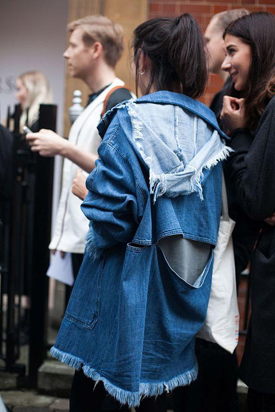 Deconstructed denim jacket   Girlfriend is Better