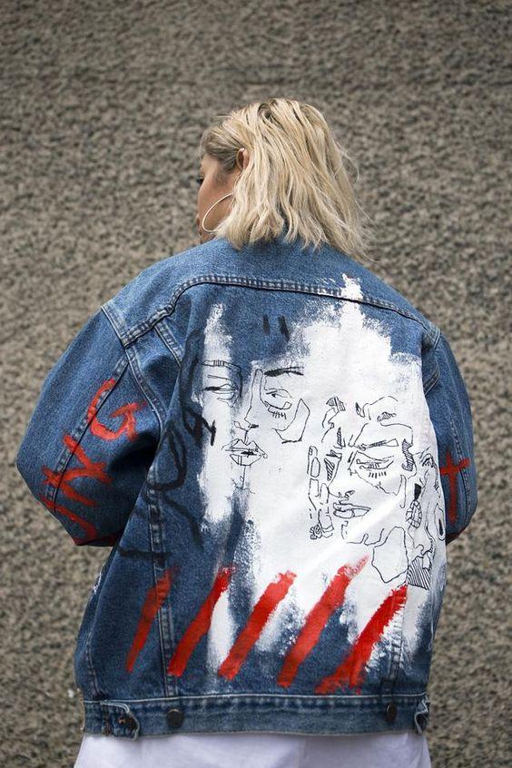 Hand-painted denim jacket by @yukihaze   Embellished jackets   Girlfriend is Better
