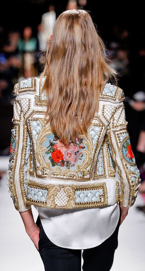 Balmain embroidered and studded beauty   Embellished jackets   Girlfriend is Better