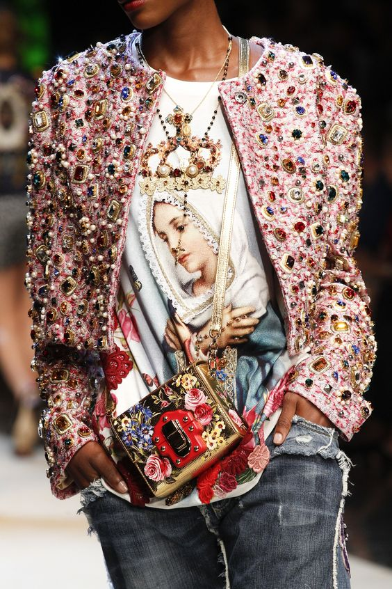 Dolce & Gabbana pins and embroidery   Embellished jackets   Girlfriend is Better