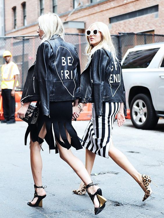 Hand-painted leather jackets BFF   Embellished jackets   Girlfriend is Better