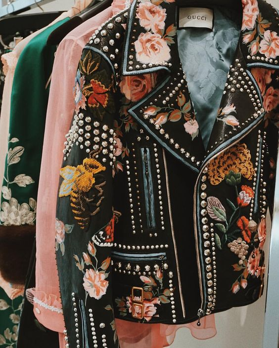 Gucci embroidered and studded delight   Embellished jackets   Girlfriend is Better