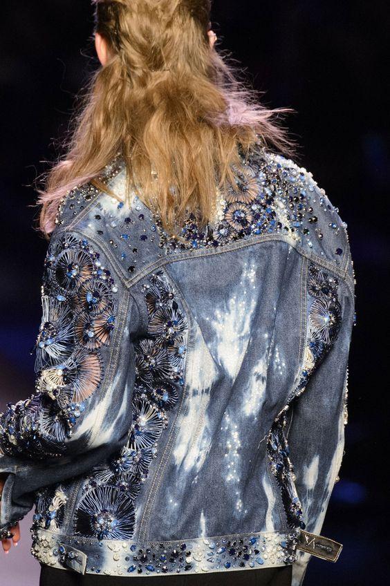 Jean Paul Gaultier studded denim   Embellished jackets   Girlfriend is Better