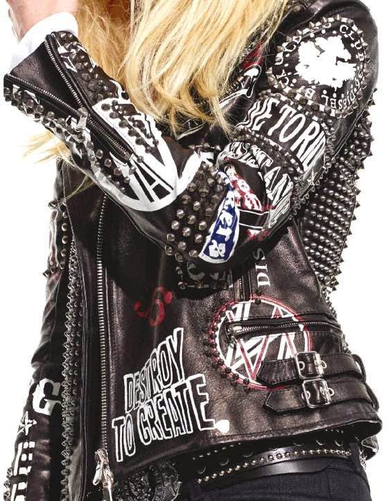 Spikes and leather paint   Embellished jackets   Girlfriend is Better
