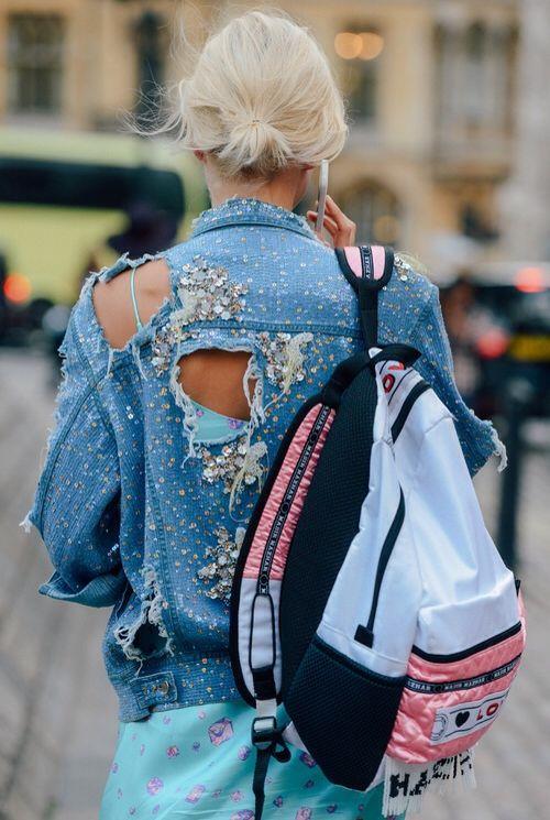 Sequins on denim   Embellished jackets   Girlfriend is Better