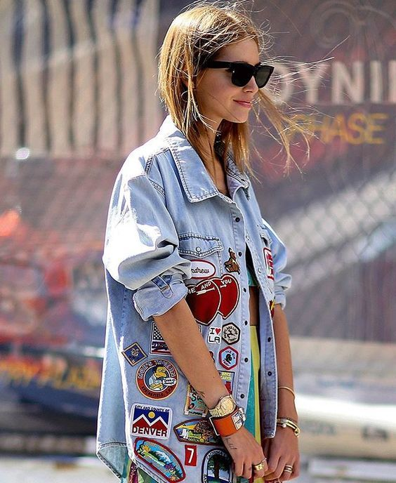 Patches on denim   Embellished jackets   Girlfriend is Better