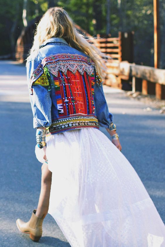 Custom Embellished Jacket Reservation by wildandfreejewelry   Girlfriend is Better