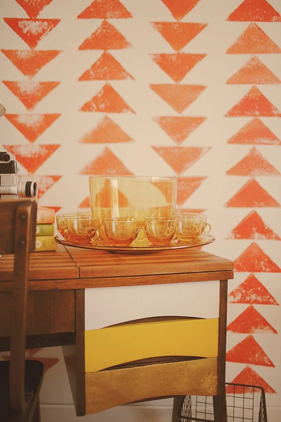 Mid-century modern decor in orange + yellow   Fame + Recognition Feng Shui   Girlfriend is Better