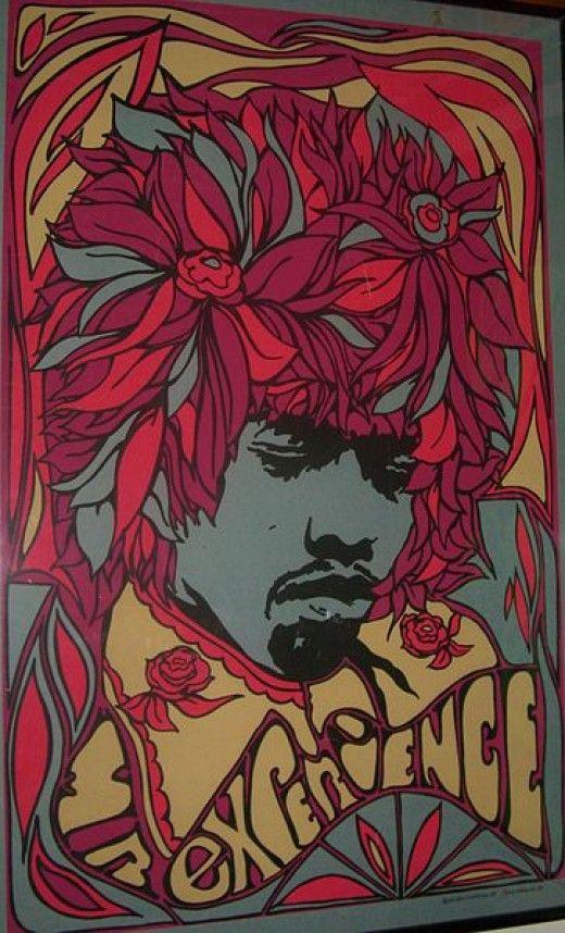 Jimi Hendrix vintage rock poster | Festival fashion | Girlfriend is Better