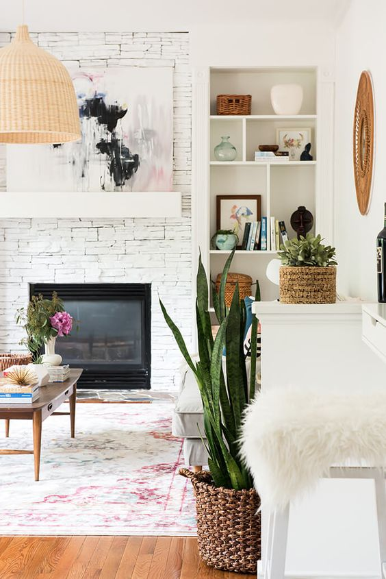 Add large artwork above the fireplace | Feng Shui |