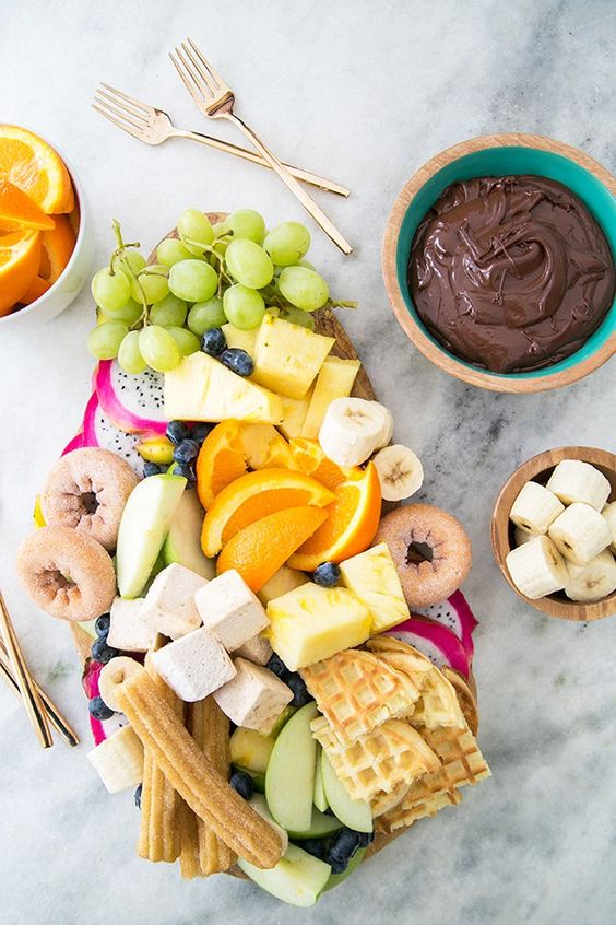 Fondue platter for a retro holiday party | Girlfriend is Better
