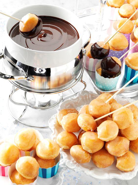 Krispy Kreme donuts and chocolate fondue | Girlfriend is Better