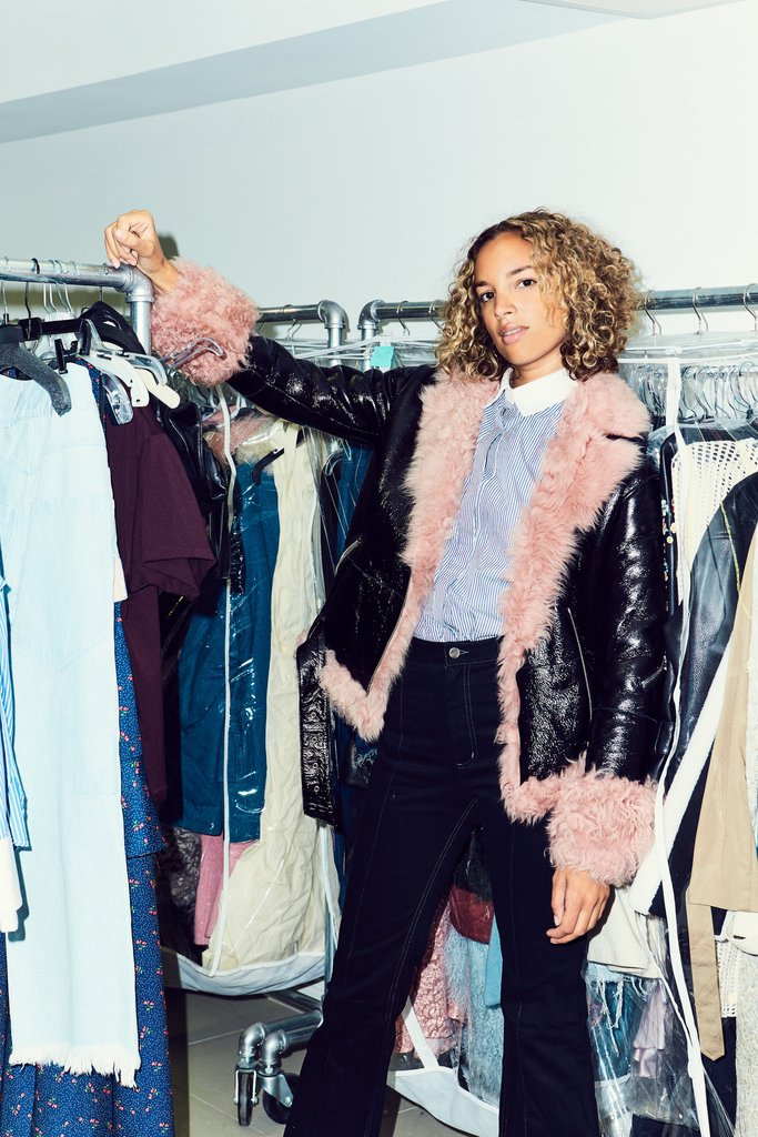 Sandy Liang pink fur-lined coats   Girlfriend is Better