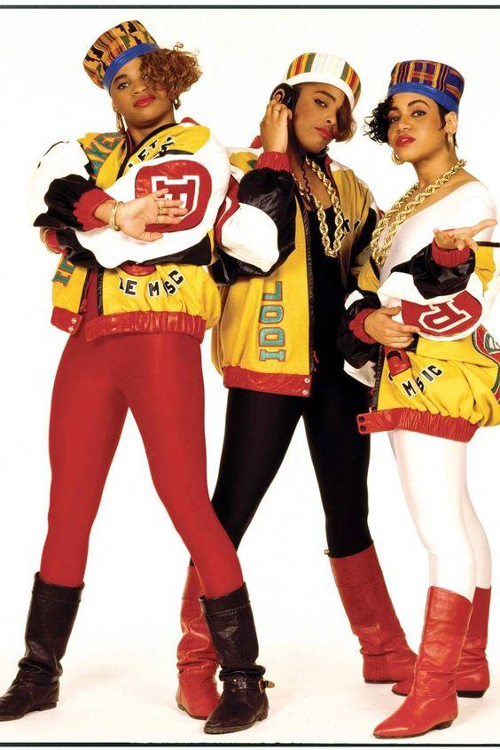 Salt N' Pepa   80's hip-hop fashion inspiration   Girlfriend is Better