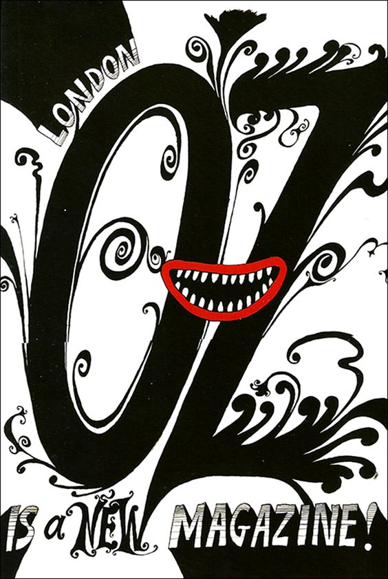 1967 OZ magazine cover art | Martin Sharp | Girlfriend is Better