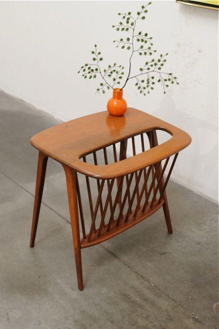 Arthur Umanoff lamp table/ magazine racks   Girlfriend is Better