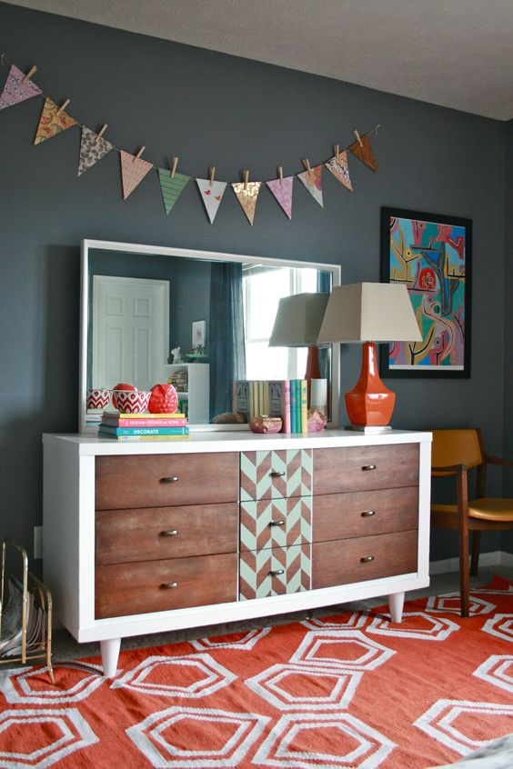 refinishing a mid-century dresser with a modern kick   Painted furniture DIY ideas   Girlfriend is Better