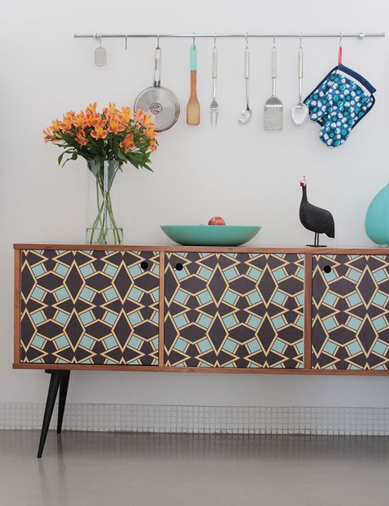 Use patterns on painted furniture for a fun, funky look   Girlfriend is Better