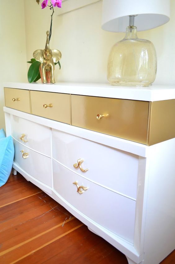 Mid Century Modern Style Dresser in Lacquer   Painted furniture ideas   Girlfriend is Better