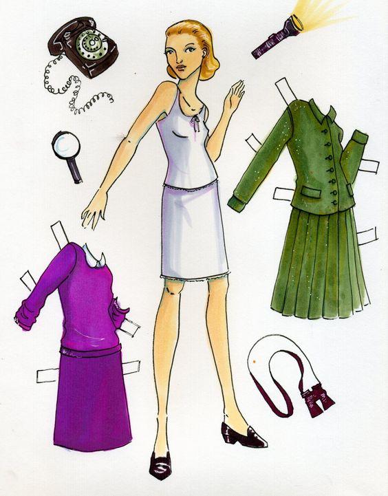 Nancy Drew paper doll | penny loafers | Girlfriend is Better