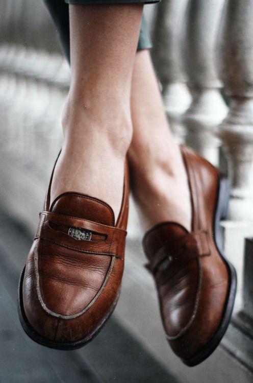Penny loafers + boyfriend jeans | Girlfriend is Better