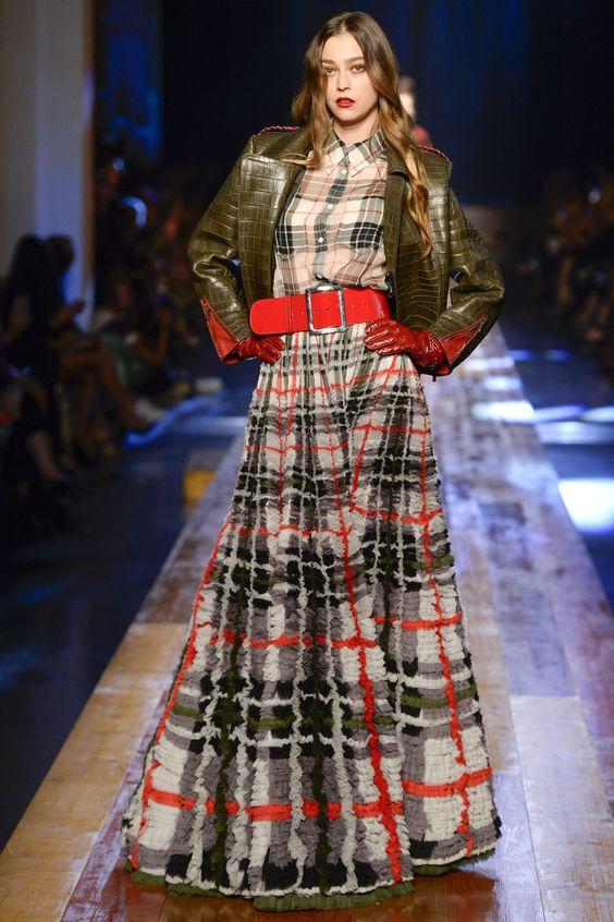 Jean Paul Gaultier plaid pattern mixing   Girlfriend is Better