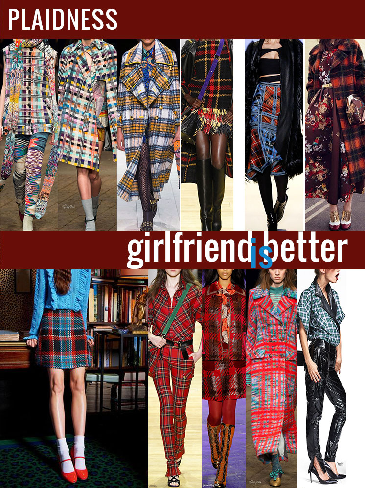 Plaidness   Favorite plaid runway looks   Girlfriend is Better