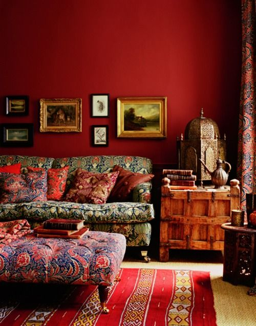 Attract prosperity and wealth with Feng Shui | Red + gold bohemian decor | Girlfriend is Better