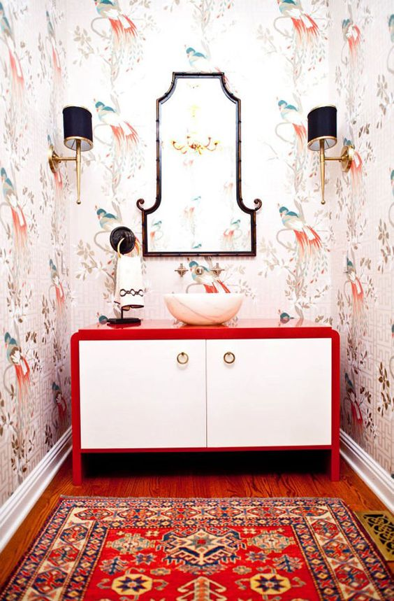 Attract prosperity and wealth with Feng Shui | Red bathroom accents | Girlfriend is Better