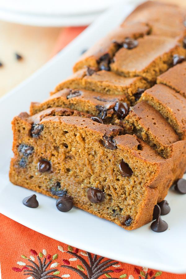 Pumpkin Chocolate Chip Bread | Gluten-free, dairy-free | Girlfriend is Better
