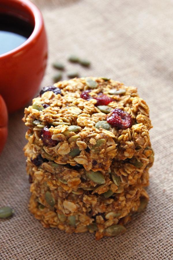 Pumpkin Breakfast Cookies | Low-sugar | Girlfriend is Better