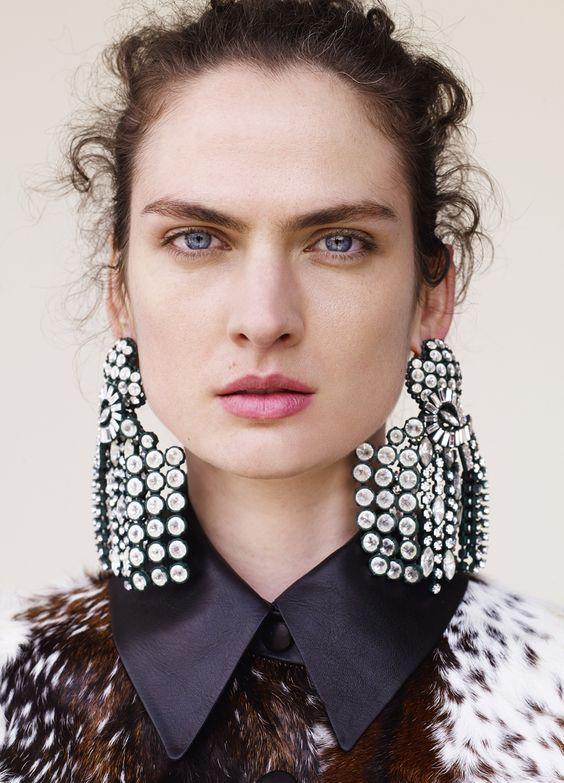 Celine rhinestone statement earrings | Girlfriend is Better