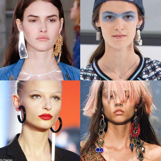 Mismatch statement earrings | Loewe, Chanel, Céline, and Vivienne Westwood Spring Summer 2016 PFW. | Girlfriend is Better