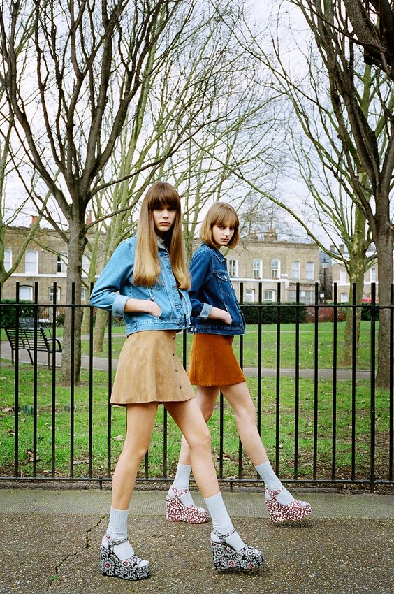 Topshop suede minis with jean jackets   Girlfriend is Better