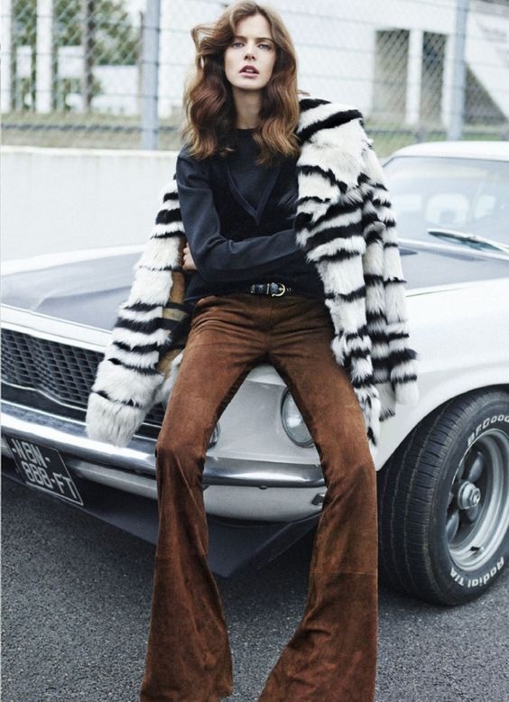 What every girl needs - suede flares and a sick automobile   Girlfriend is Better
