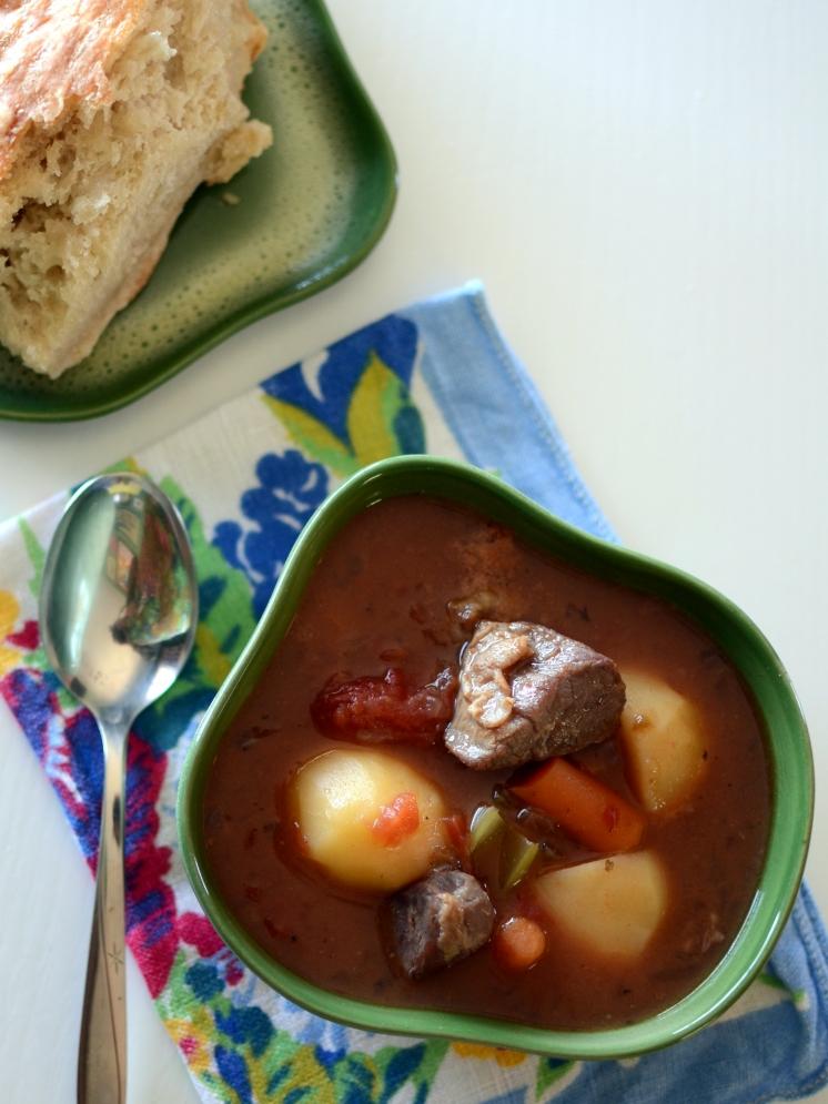 Vegetable Beef Soup slow cooker recipe   Girlfriend is Better