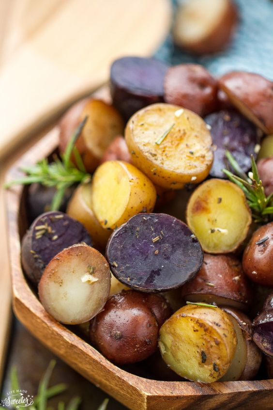 Tri-color potatoes for Vegetable Beef Soup recipe   Girlfriend is Better