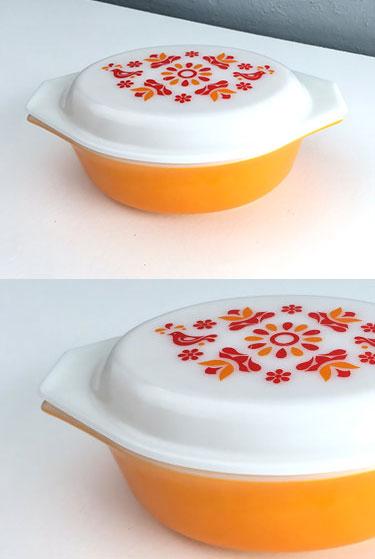 Vintage Pyrex casserole dish   Friendship   Retroburgh Etsy