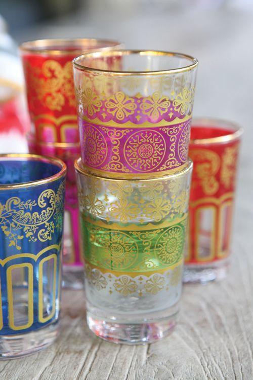 Bohemian glassware | Vintage tumblers | Girlfriend is Better