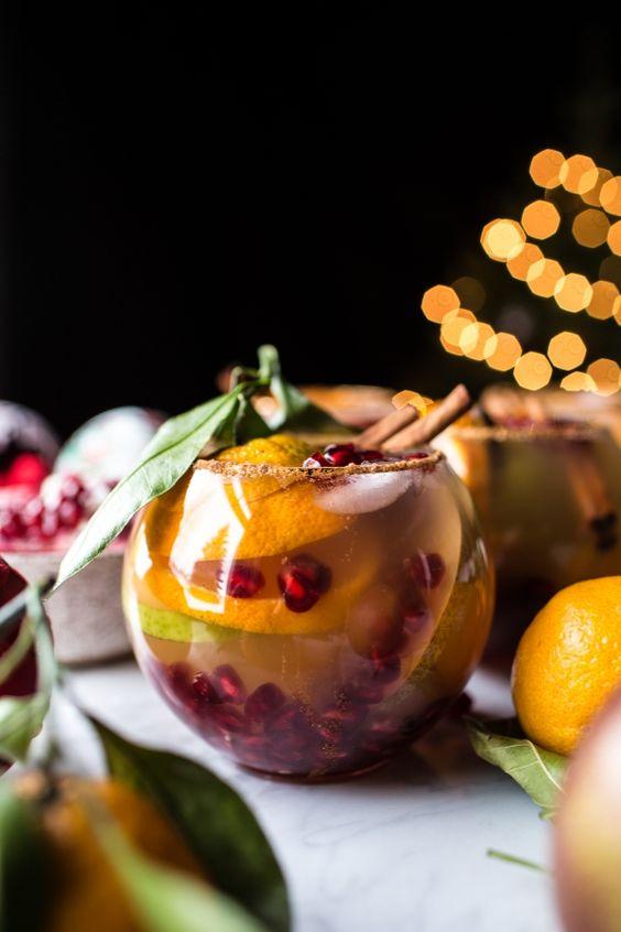 Pomegranate mocktail | vintage tumblers | Girlfriend is Better