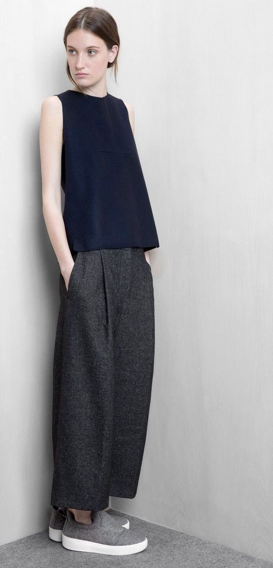Wide-cut pants perfect for the office | Girlfriend is Better
