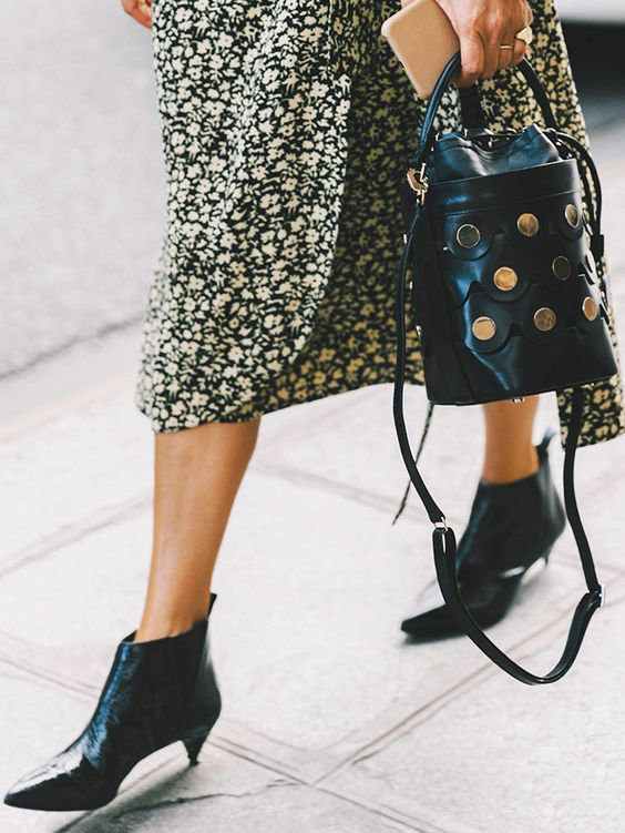 Ankle boots with a cone heel update for Spring 2017 | Girlfriend is Better