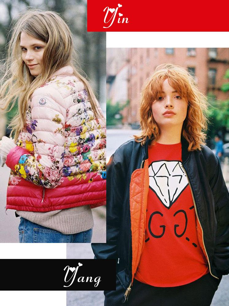 Galentine's Day fashion mash-ups | Bomber jacket yin + yang | Girlfriend is Better
