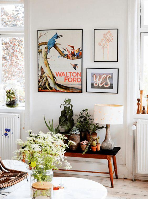 Simple gallery wall using 3 frames | Girlfriend is Better