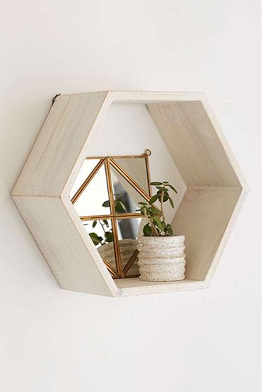 Honeycomb Wood Shelf | Girlfriend is Better